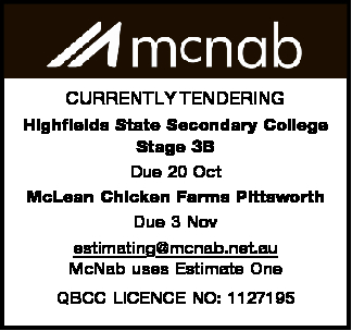 Highfields State Secondary College Stage 3B Due 20 Oct McLean Chicken Farms Pittsworth Due 3 Nov...