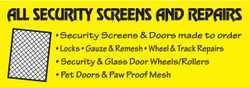 Security Screens & Doors made to order  Locks  Gauze & Remesh  Wheel &...