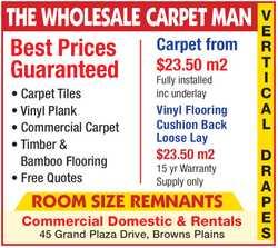 THE WHOLESALE CARPET MAN   Best Prices Guaranteed    Carpet Tiles  Vinyl Plank ...