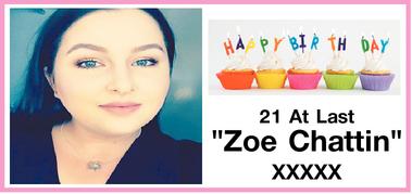 """""""Zoe Chattin""""   XXXXX"""