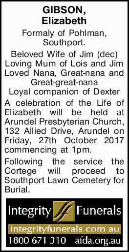 Formaly of Pohlman, Southport.
