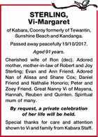 STERLING, Vi-Margaret