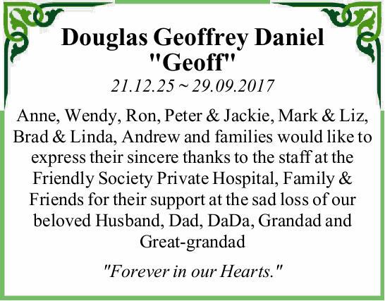 21.12.25 ~ 29.09.2017   Anne, Wendy, Ron, Peter & Jackie, Mark & Liz, Brad & Lind...