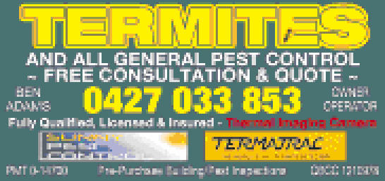 Termites and all general pest control work.