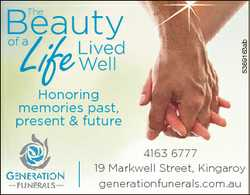 Life 5369163ab The Honoring memories past, present & future 4163 6777 19 Markwell k ll Street...