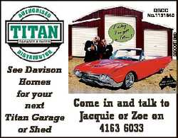 5500618ab QBCC No.1131940 See Davison Homes for your next Titan Garage or Shed Come in and talk t...