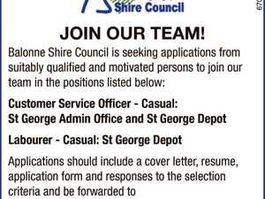 Multiple Positions : Balonne Shire Council