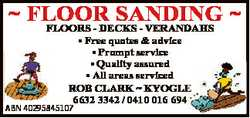 FLOOR SANDING FLOORS - DECKS - VERANDAHS * Free quotes & advice * Prompt service * Quality as...