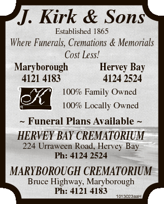 J. Kirk & Sons Established 1865 Where Funerals, Cremations & Memorials Cost Less!