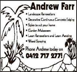 Andrew Farr * Landscape Renovations * Decorative Continuous Concrete Edging * Styles to suit your...
