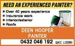 NEED AN EXPERIENCED PAINTER? Over 40 years experience Insurance work Interior/exterior Roofs DEEN...