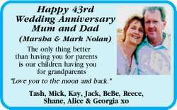 Happy 43rd Wedding Anniversary Mum and Dad (Marsha & Mark Nolan) The only thing better than h...