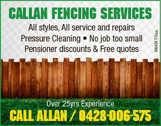 All styles, All service and repairs Pressure Cleaning   * No job too small   Pensioner di...