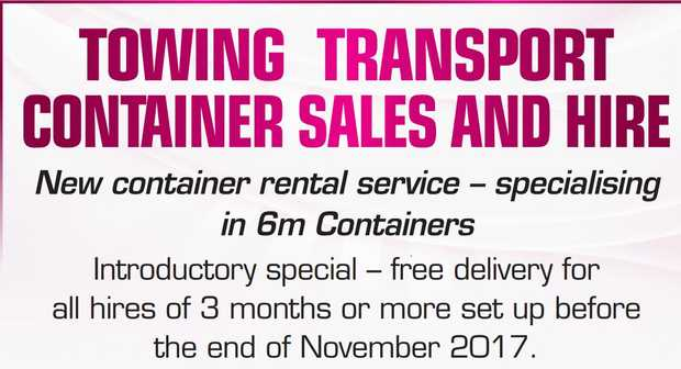Towing TransporT ConTainer sales and Hire Introductory special - free delivery for all hires of 3...