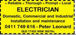 Reliable  Thorough  Prompt  Local   ELECTRICIAN   Domestic, Commercial...