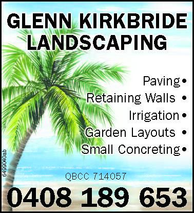 Paving   Retaining Walls    Irrigation   Garden Layouts    Small Con...