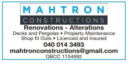 Renovations - Alerations     Decks and Pergolas  Property Maintenance  Shop Fit...