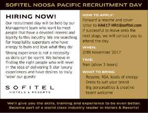 SOFITEL NOOSA PACIFIC RECRUITMENT DAY