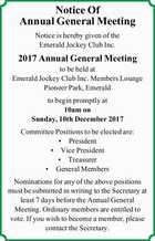Emerald Jockey Club Inc.