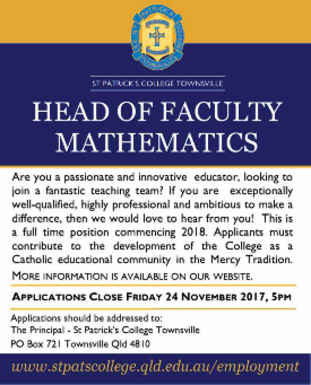 HEAD OF FACULTY MATHEMATICS 