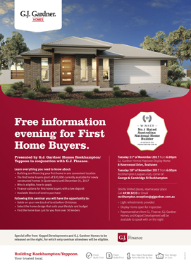 Free information evening for First Home Buyers.