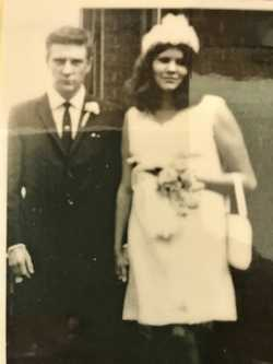 Happy 50th wedding Anniversary  Mum and dad ( Bill and Sarah Cunningham ) Lots love Michael, Melissa...