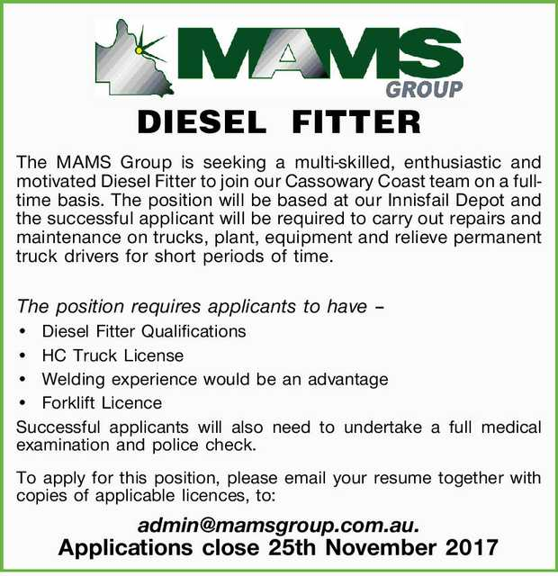 - DIESEL FITTER - 