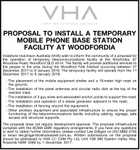 PROPOSAL TO INSTALL A TEMPORARY MOBILE PHONE BASE STATION FACILITY AT WOODFORDIA