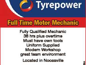 Fully Qualified Mechanic 38 hrs plus overtime Must have own tools Uniform Supplied Modern Workshop great team environment Located in Noosaville Email resume to noosaville@tyrepower.com.au 6586056aa Full Time Motor Mechanic