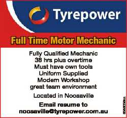 Fully Qualified Mechanic 38 hrs plus overtime Must have own tools Uniform Supplied Modern Workshop g...