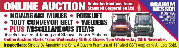 Under Instructions from Stanwell Corporation Ltd.    Kawasaki Mules  Forklift  1...