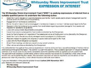Whitsunday Rivers Improvement Trust EXPRESSION OF INTEREST
