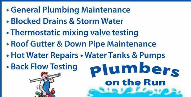 • General Plumbing Maintenance   • Blocked Drains & Storm Water   • Th...