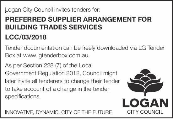 PREFERRED SUPPLIER ARRANGEMENT FOR BUILDING TRADES SERVICES   LCC/03/2018   Tender docume...