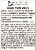 GLADSTONE REGIONAL COUNCIL TENDER