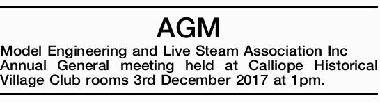 Model Engineering and Live Steam Association Inc