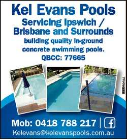 Kel Evans Pools Servicing Ipswich / Brisbane and Surrounds 6596464aa building quality in-ground conc...