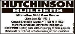 6719457aa Mitchelton Child Care Centre Close: 5pm 27/11/2017 Contact: Chandana Kuruppu * T: (07) 464...