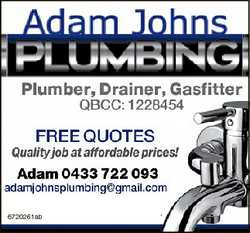 Plumber, Drainer, Gasfitter