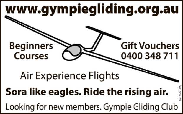 Air Experience Flights. Beginners Courses, Gift couvhers and More.  Looking for new members....