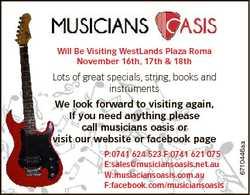 Will Be Visiting WestLands Plaza Roma November 16th, 17th & 18th We look forward to visiting aga...