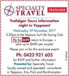 Trafalgar Tours information night in Yeppoon!
