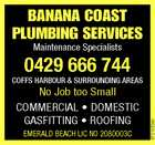 BANANA COAST PLUMBING SERVICES