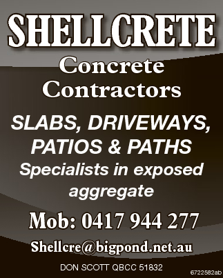 Concrete Contractors   SLABS, DRIVEWAYS, PATIOS & PATHS   Specialists in exposed aggr...