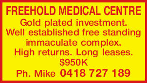 FREEHOLD MEDICAL CENTRE 