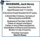 MCKENZIE, Jack Henry
