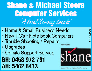 Computer Services   'A local Serving Locals   * Home & Small Business Needs  ...