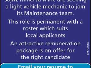 Sojitz Minerva Mine are seeking a light vehicle mechanic to join its Maintenance team. An attractive remuneration package is on offer for the right candidate 6717200aa This role is permanent with a roster which suits local applicants Email your resume to recruitment@minervacoal.com.au