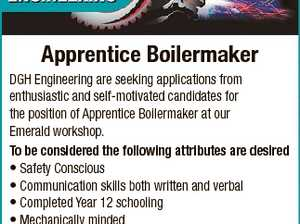 Apprentice Boilermaker 6717788aa DGH Engineering are seeking applications from enthusiastic and self-motivated candidates for the position of Apprentice Boilermaker at our Emerald workshop. To be considered the following attributes are desired * Safety Conscious * Communication skills both written and verbal * Completed Year 12 schooling * Mechanically minded * Motivated and enthusiastic with attention ...
