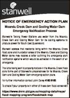 NOTICE OF EMERGENCY ACTION PLAN Meandu Creek Dam and Cooling Water Dam Emergency Notification Process Stanwell's Tarong Power Stations use water from the Meandu Creek Dam and Cooling Water Dam for its cooling systems to produce power for South East Queensland. Stanwell advises that residents living within the Meandu ...